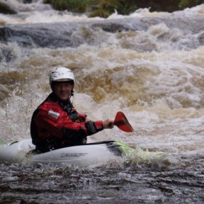 One of our members white water racing